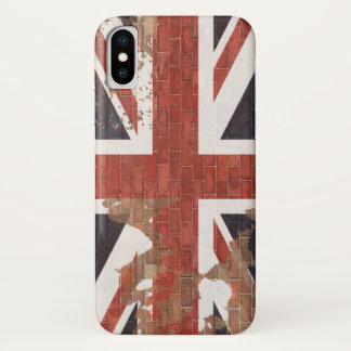 UK Flag on Wall iPhone X Case