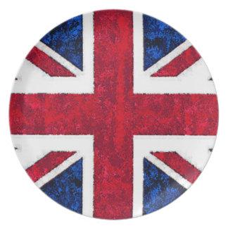 UK FLAG Plate