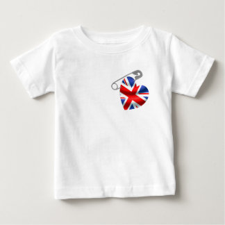 UK Flag Safety Pin Baby T-Shirt