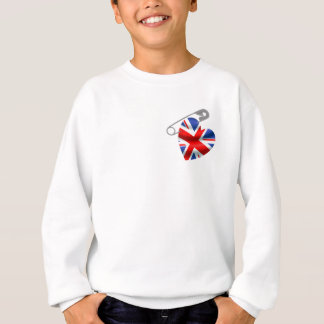 UK Flag Safety Pin Sweatshirt