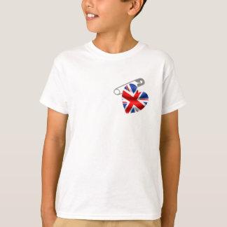 UK Flag Safety Pin T-Shirt