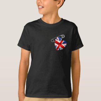 UK Flag Safety Pin T-Shirt