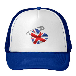 UK Flag Safety Pin Trucker Hat