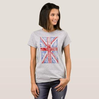 UK Flag, Sketchy Line T-Shirt