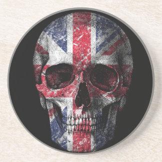 UK flag skull Coaster