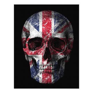 UK flag skull Letterhead
