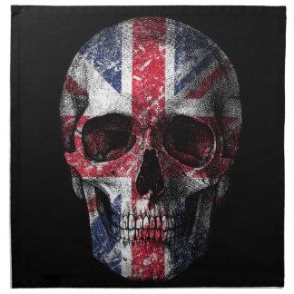 UK flag skull Napkin