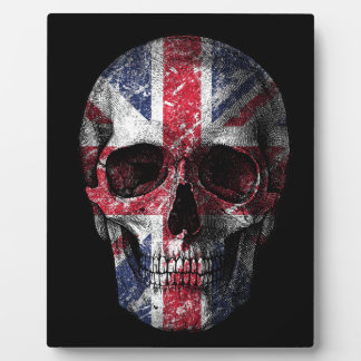 UK flag skull Plaque