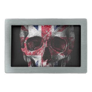 UK flag skull Rectangular Belt Buckles