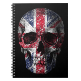 UK flag skull Spiral Notebook