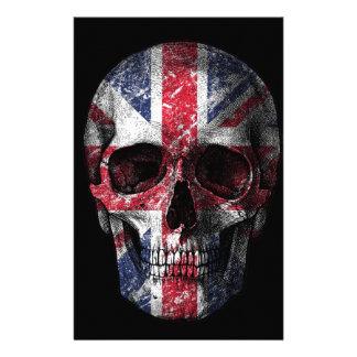 UK flag skull Stationery