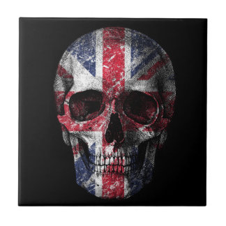 UK flag skull Tile
