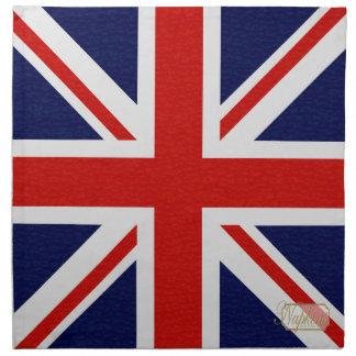 UK Flag Sparkle Gold Cloth Napkin
