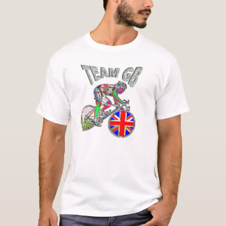 UK flag team GB cycling champions tshirt
