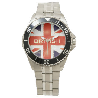 UK Flag Union Jack Custom Stainless Steel Watch