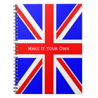 UK flag Union Jack Spiral Note Books