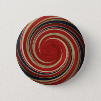 UK Flag, Very Twisted, Whirlpool 2 Inch Round Button