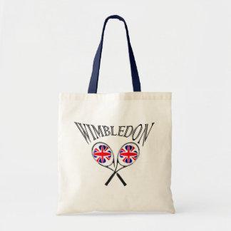 UK Flag Wimbledon tennis rackets and balls Tote Bag