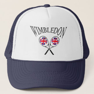 UK flag Wimbledon tennis rackets hat