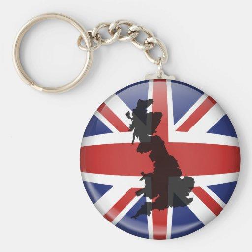 UK Globe Keychain
