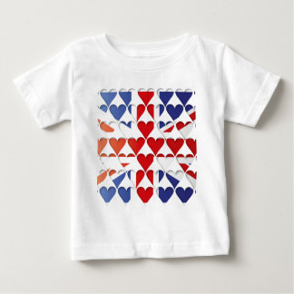 UK HEARTS FLAG BABY T-Shirt