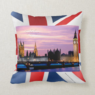 UK landmark image for Throw-Cushion Throw Pillow