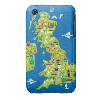 uk map iPhone 3 case