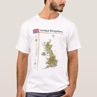 UK Map + Flag + Title T-Shirt