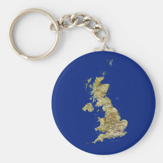 UK Map Keychain