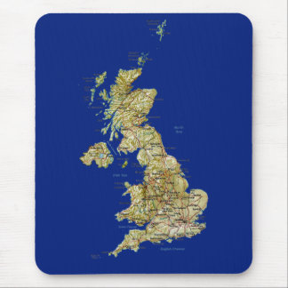 UK Map Mousepad