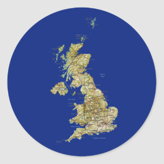 UK Map Sticker