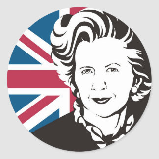 UK mourns Margaret Thatcher, England's Iron Lady Classic Round Sticker