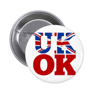 UK OK! Better Together Pinback Buttons