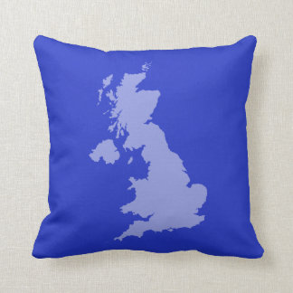 UK outline Cushion - Blue