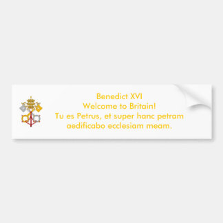 UK Papal Visit 2010 Bumper Sticker