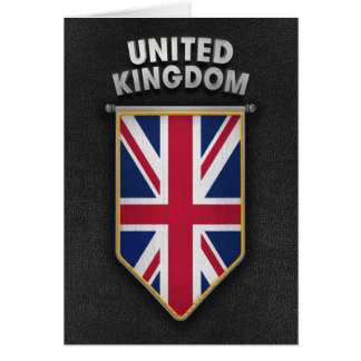 UK Pennant with high quality leather look Card