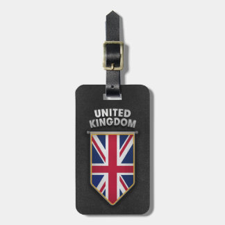 UK Pennant with high quality leather look Luggage Tag
