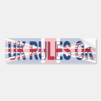 UK Rules OK Bumper Sticker