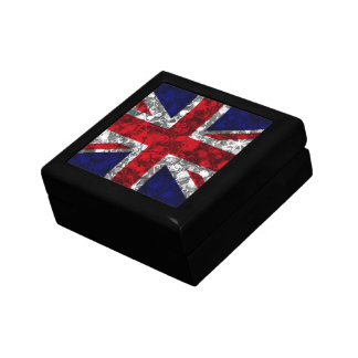 UK Silver baubles and sparkle glamour flag box Gift Box