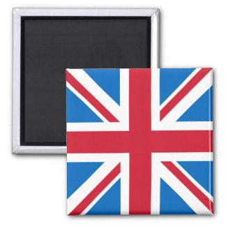 UK Square Magnet - Union Jack with Scottish Blue