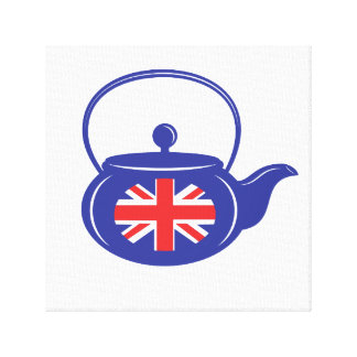 UK Teapot Wrapped Canvas