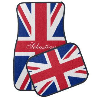 UK Union Jack British Flag Personalized Car Mat