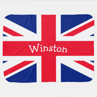 UK Union Jack British Patriotic Flag Baby Blanket