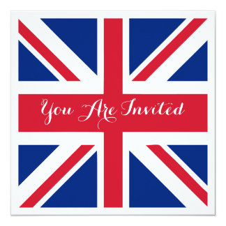 UK Union Jack Flag British Wedding Card