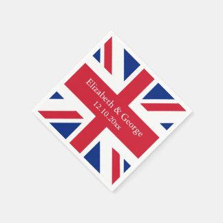 UK Union Jack Flag British Wedding Paper Napkins