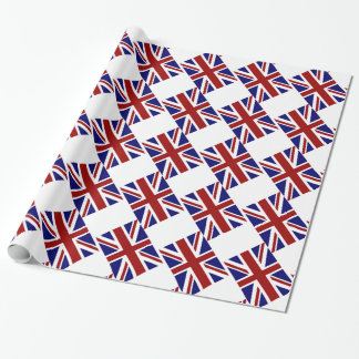 UK Union Jack Flag Diagonal Wrapping Paper
