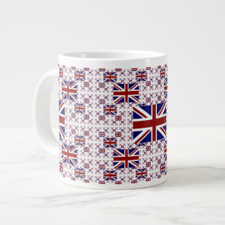 UK Union Jack Flag in Layers Large Coffee Mug