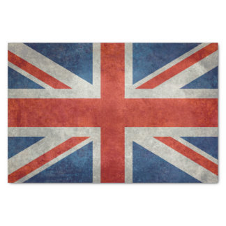 UK Union Jack Flag in retro style vintage textures Tissue Paper