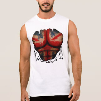 UK Union Jack  Flag Muscles Body  Ripped Funny Tee