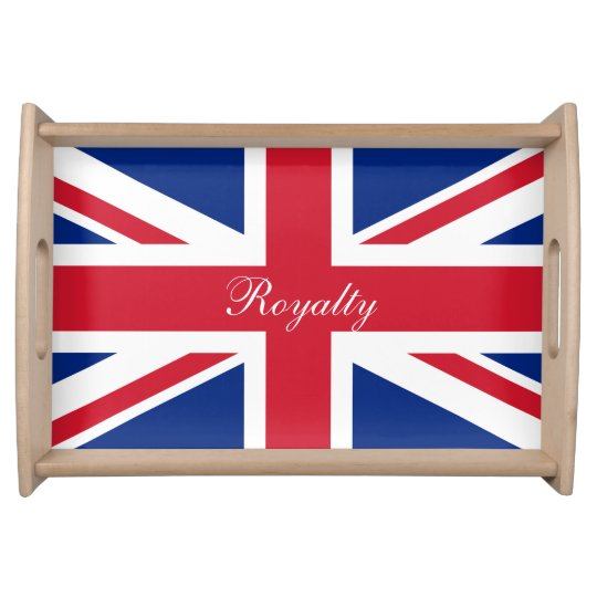 UK Union Jack Flag Patriotic Personalized Serving Trays
